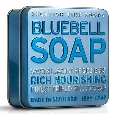 Scottish Fine Soaps Nourishing Bluebell Soap In A Tin 100G 3 5Oz