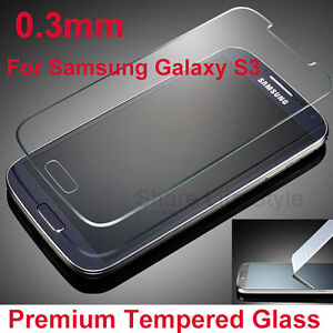 New Tempered Glass Screen Protector Guard for Samsung Galaxy S3 S4 S5 Note 3