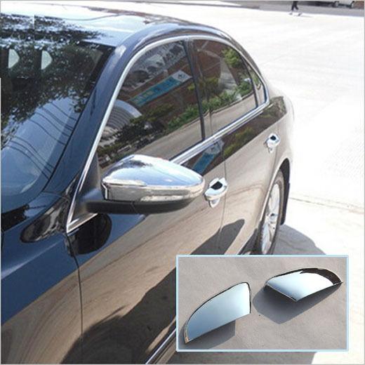 FIT FOR VW PASSAT B7 EURO 11- CHROME SIDE MIRROR COVER TRIM MOLDING CAP OVERLAYS