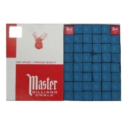 Master Pool Cue Chalk - Gross 144 Pieces - Blue - SHIPS SAME/NEXT DAY!