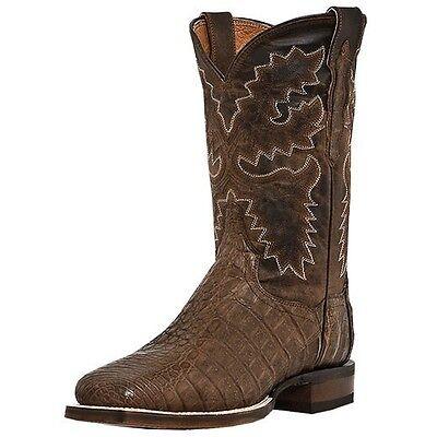 Dan Post Denver Caiman Exotic Square Toe Cowboy Boot Bay Apache Dp2807