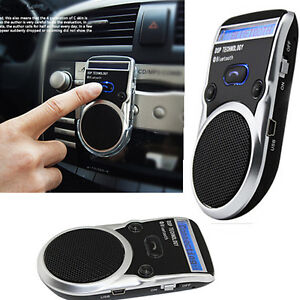 solar powered bluetooth handsfree car kit lcd speaker for mobile cellphone crb ebay. Black Bedroom Furniture Sets. Home Design Ideas