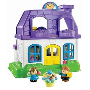 Adorable Little People Happy Sounds Home ~excellent condition