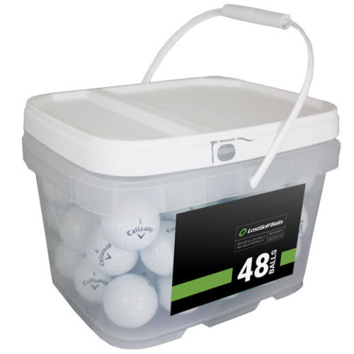 48 Callaway Chrome Soft AAAAA/Mint Recycled Golf Balls *In a Free Bucket!*