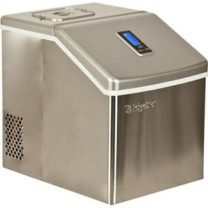 Edgestar Stainless Steel Portable Clear Ice Maker, Countertop Ice Cube Machine