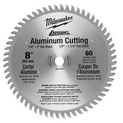 Milwaukee 48-40-4530 8-Inch 60 Tooth Metal Cutting Aluminum Circular Saw Blade