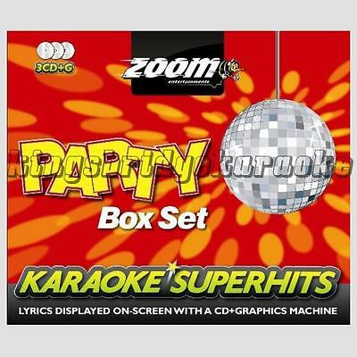 Zoom Karaoke Pop Party Superhits - 3 Disc Set - 64 Tracks CDG/CD+G