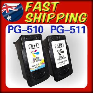 2x Ink Cartridge PG510 CL511 for Canon IP2700 MX410 MX350 MX330 MX320 MP499