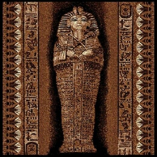 5 X 8 PHARAOH EGYPTIAN MUMMY TOMB AREA RUG