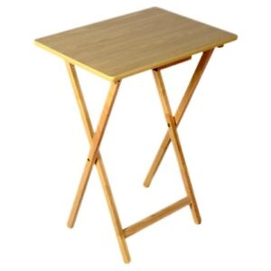 Solid wood folding tv table