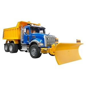 New Bruder® Mack Granite Dump Truck with Snow Plow Blade