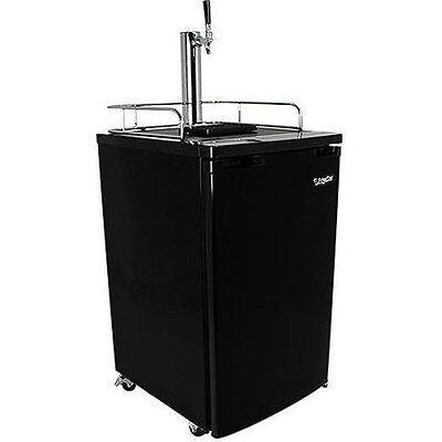 Black Full Size Beer Kegerator Keg Dispenser Cooler Fridge W Co2 Tank Tap