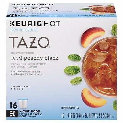 Keurig Starbucks Tazo - Iced Peach Peachy Black Tea - 16 ct K-Cup Pods (Pod Black Ice)