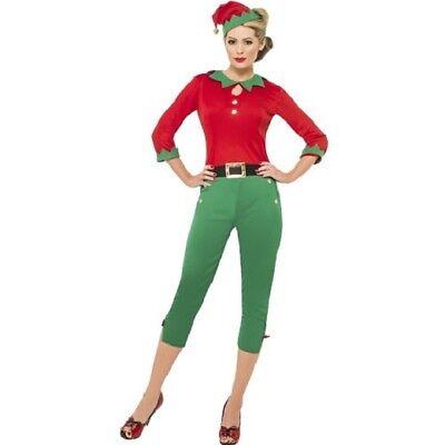 Weihnachten Verkleidung Damen Santa's Helfer Elfe Kostüm Ref 20912 By Smiffys