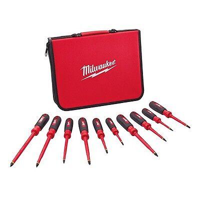 Milwaukee 48-22-2210 10 Pc 1000v Insulated Screwdriver Set W Eva Case
