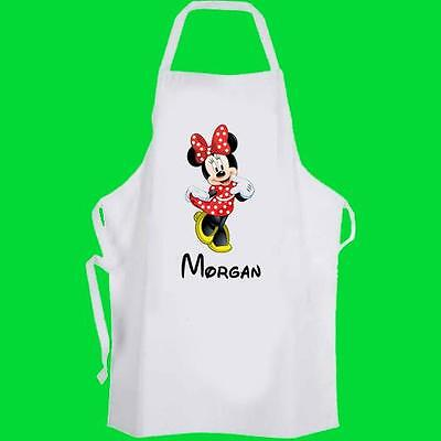 Minnie Mouse Personalised Toddler Cooking Apron Pre-School -