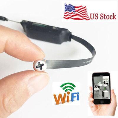 Wireless Mini WIFI 1080p HD SPY Hidden Pinhole screw Camera DVR Motion Activated