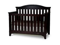 Baby Cot - Converts into a toddler bed - Espresso