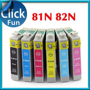 14-x-Ink-Cartridges-T0821-81N-82N-for-Epson-1430-Artisan-725-730-835-837-Printer