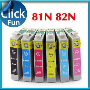 14 x Ink Cartridges T0821 81N 82N for Epson 1430 Artisan 725 730 835 837 Printer