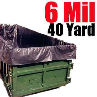 6 Mil 40 Yard Roll Off Dumpster Liner