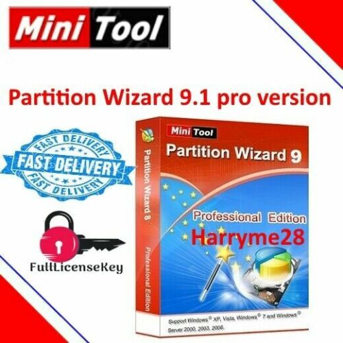Minitool Partition Wizard Pro 9.1 Digital Delivery in Seconds
