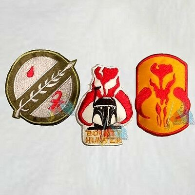 Boba Fett Suit (Set Boba Fett Embroidered Patches Bounty Hunter Star Wars Replica Suit)