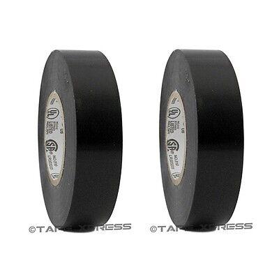 2 Rolls Black Vinyl Pvc Electrical Tape 34 X 60 Flame Retardant Free Shipping