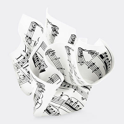 MoMa Paperweight - Crumpled Sheet Music Paperweight Office Accessory Steel Decor