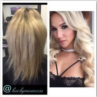 Sale on extensions done by a hair stylist!