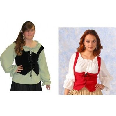 WOMAN RENAISSANCE PIRATE MEDIEVAL WRENCH BODICE LACE UP COSTUME VEST - Pirate Costume For Woman