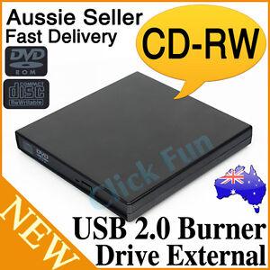 External Slim USB 2.0 Burner CD±RW DVD ROM CD Writer Drive For Mac Win7 Portable