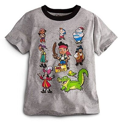 NWT Disney Store Jake and the Never Land Pirates Crew Tee T-Shirt Shirt M 7 (The Landing Stores)