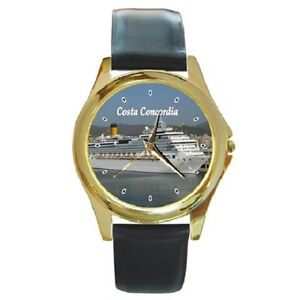 COSTA CONCORDIA CRUISE SHIP ROUND WRISTWATCH **FANTASTIC ITEM**