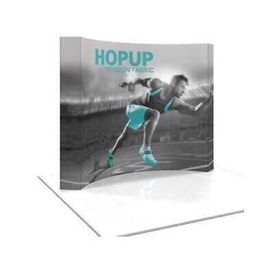 Hopup 8ft Tension Fabric Display - Trade Show Display - Curved