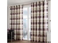 Lined Eyelet Curtains for sale
