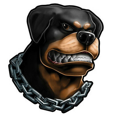 """""""Dog Ink"""" Temporary Tattoo, Angry Rottweiler in Chain, Dog, Made in USA"""