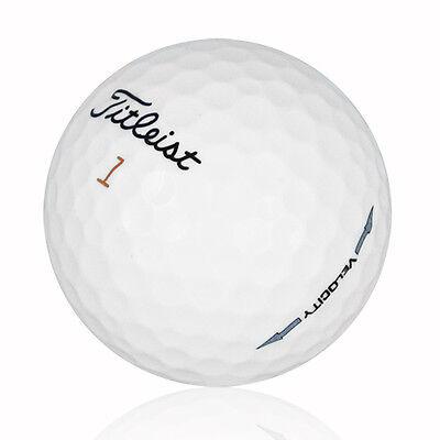 120 Titleist Velocity Near Mint Used Golf Balls AAAA *Free Pack of Tees!!*