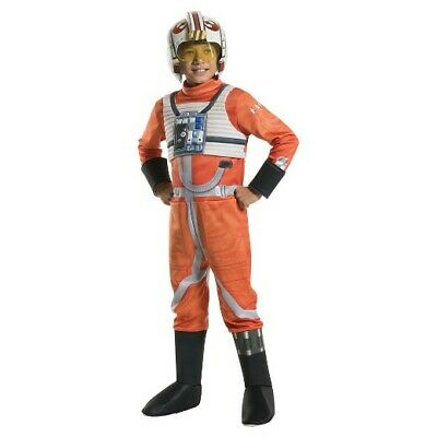 Disney X-Wing Star Fighter Pilot Resistance Rebel Rubies Boy's Star Wars - Star Wars Rebel Fighter Kostüm
