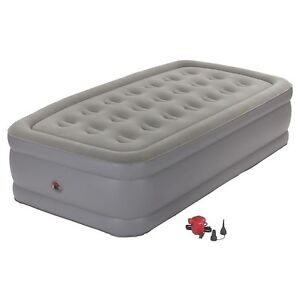 Twin Double High Inflatable  Matress w/ pump and bedding