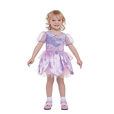 A~104-110-116~Karneval~Fasching~Mädchen~Kleid~lila~Prinzessin (Lila Fee Prinzessin Kostüm)