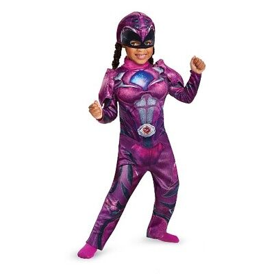 NEW NWT Costume GIRLS MUSCLE Chest POWER RANGERS PINK Size SMALL 2T TODDLER ()
