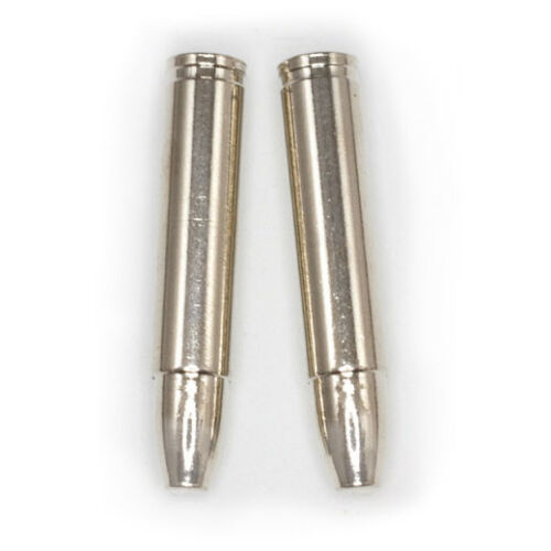 Bullet Style Bolo Tips - Gold or Silver Tone - 1 Pair