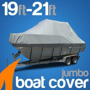 Heavy-Duty 19ft-21ft / 5.8m-6.4m Trailerable Jumbo Boat Cover