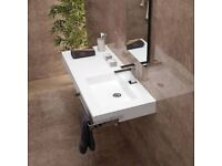 Porcelanosa Kole KRION Basin with Worktop. Brand New in Box and Unopened.