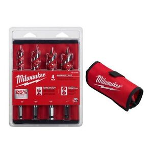 48-13-4000 Milwaukee 4 pc Spur Auger Bit Set