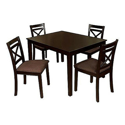 Dining Room Furniture Dining Table Set 5Pcs Chairs with Padded Microfiber Seats