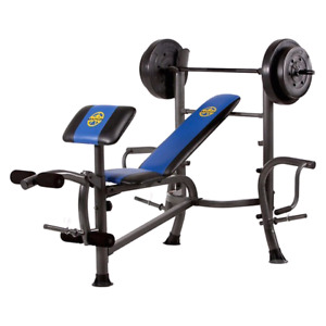Marcy Bench Press and Apex Ab Tower
