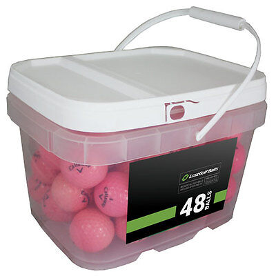 48 Callaway Supersoft Pink Mint Used Golf Balls AAAAA *In a Free Bucket!*