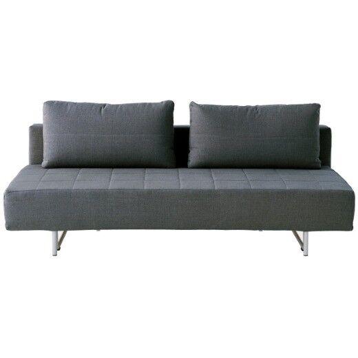 Astonishing Quick Sale 2 Seater Sofa Bed Linen Charcoal Muji In Hackney London Gumtree Machost Co Dining Chair Design Ideas Machostcouk